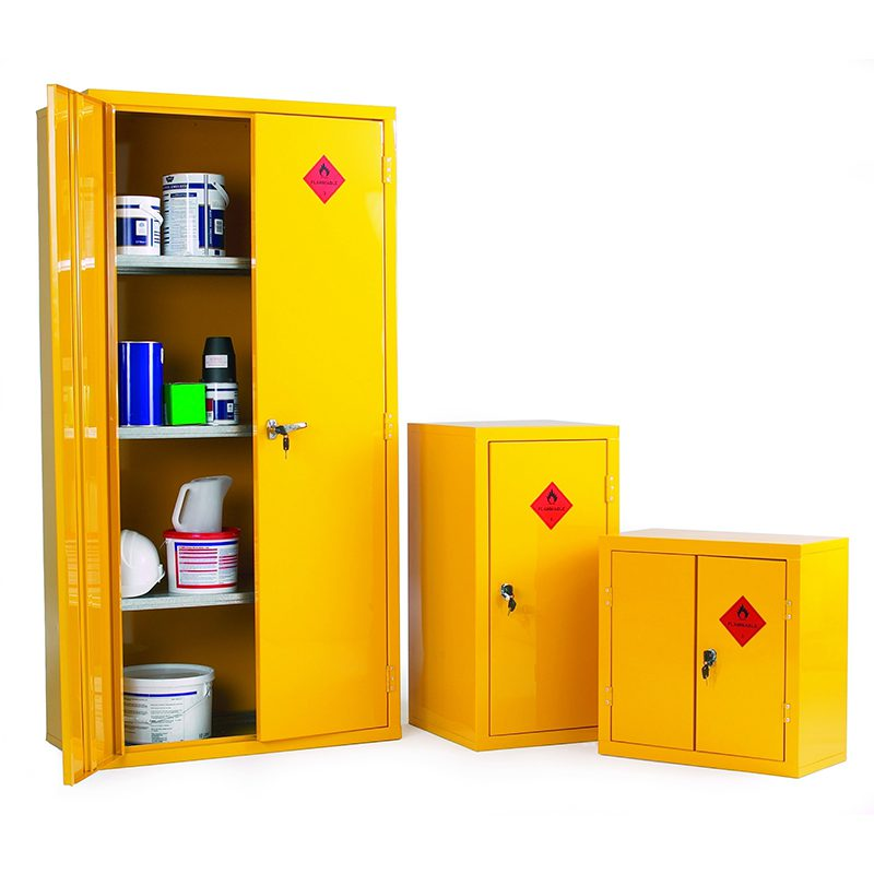Three COSHH storage boxes