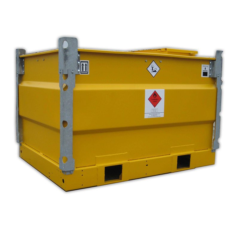 Yellow fuel storage box