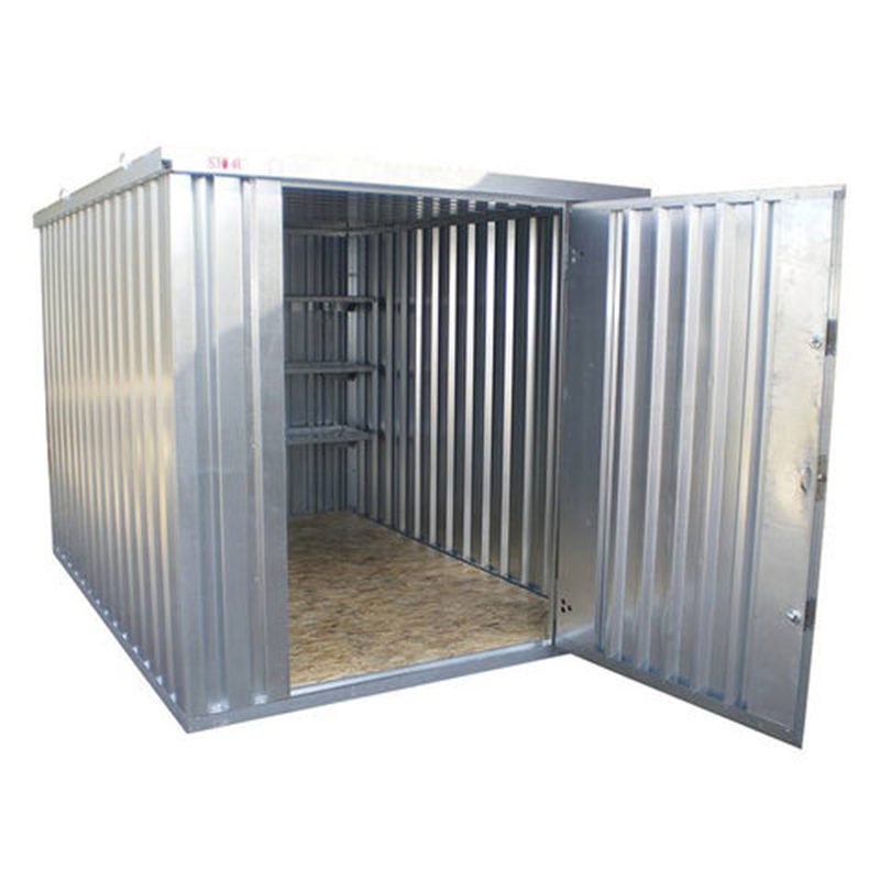 Metal small storage container with open door