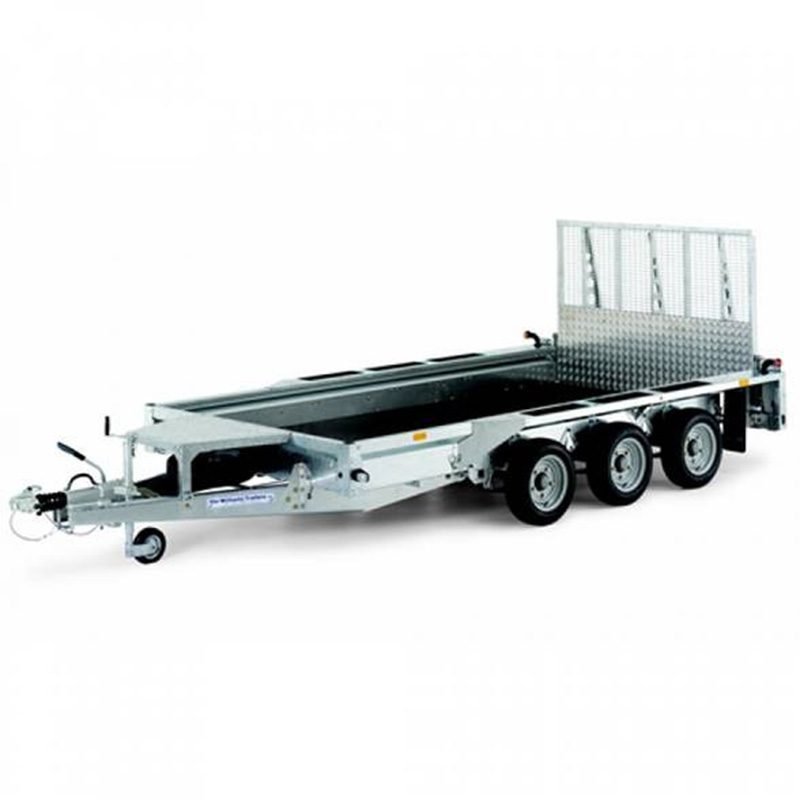Trailer with six wheels
