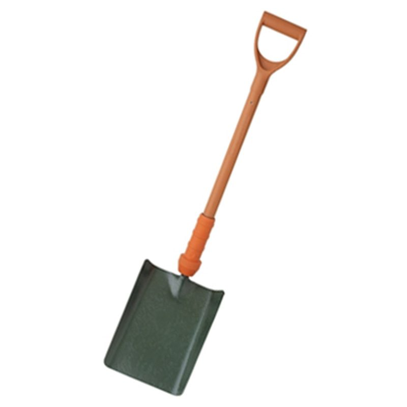 Insulated shovel with orange handle