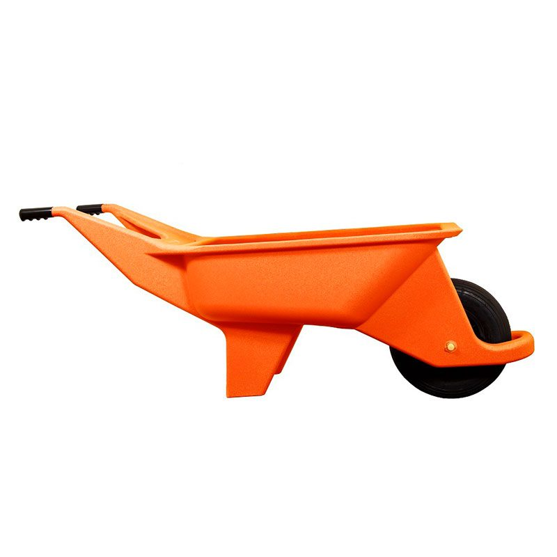 Orange insulated wheelbarrow
