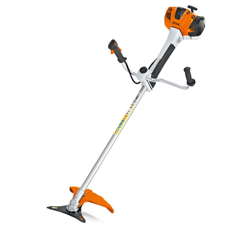 Orange and black Petrol Brush Cutter