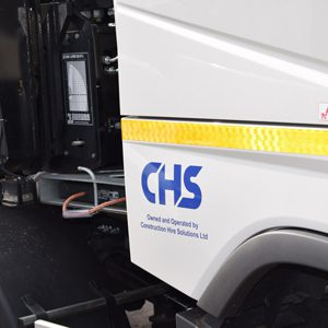 CHS logo on side of Volvo-Hiab
