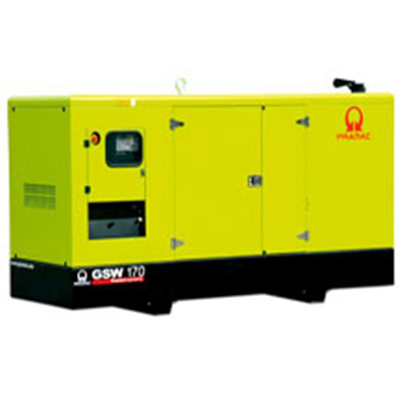 Large yellow Generators for on site