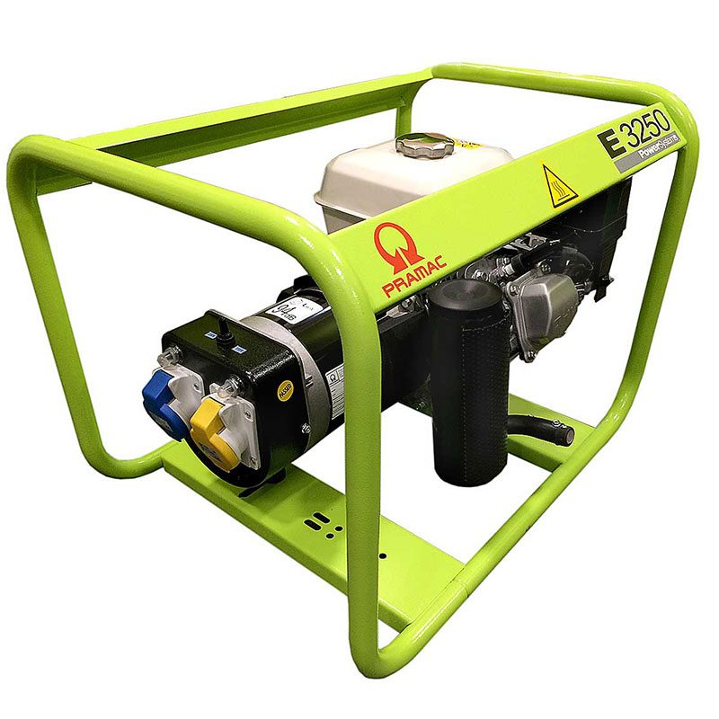 Green, white and black small generator