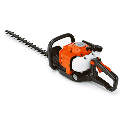 orange & black husqvarna heavy duty petrol hedge trimmer